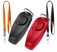 Dog Training Whistle Clicker Combo,Ultrasonic to Stop Pet Barking,Train Skills Tools,2 Pcs