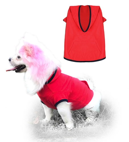 Uvoguepaw Dog Blank Hoodie Basic Pet Summer Sweatshirt,Red Small