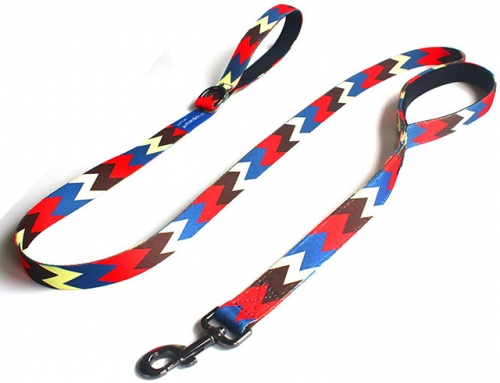 Uvoguepaw Dog Training Leash 6ft,Two Handles,Heavy Duty,for Medium Large Dogs Rhombus Style